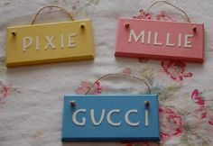 Items similar to Personalised Pet crate cage hutch name sign plaque. Any name (max 6 letters) Any colour. Dog Cat Name sign. Horse Rabbit Dog Cat gift on Etsy Rabbit Cages, Dog Cages, Pet Cage, Rabbit Enclosure, Dog Storage, Dog Organization, Presents For Girlfriend, Pet Rabbit, Diy Stuffed Animals