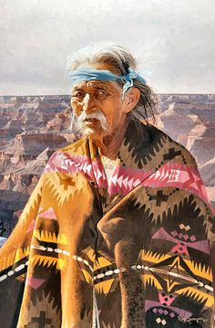 Hosteen Begay at the Canyon by Ray Swanson