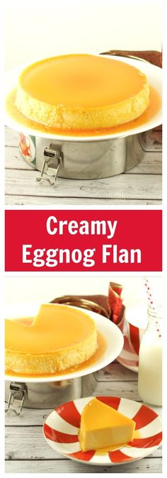 This gluten free Eggnog Flan is super easy to make and is the perfect Holiday dessert to serve at parties and celebrations.  More gluten free holiday desserts at livingsweetmoments.com  via @Livingsmoments