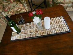 I fully intend to recreate this tray with the corks the ladies and I have collected... over the past couple of weeks! LOL!