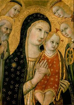Madonna and Child with SS. Dominic and C - also Ansano di Pietro ...