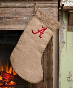 Look what I found on #zulily! Alabama Crimson Tide Burlap Stocking #zulilyfinds