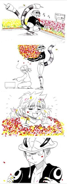 Meruem and Komugi ~Hunter X Hunter. AWWW I've never the full thing before! It's adorable.