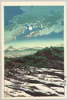 狩勝峠 Karikachi tôge (Karikachi Mountain Pass) - 1932   Kawase Hasui