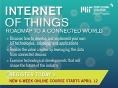 #IoT MIT Professional Education's #Online Course to Bring Latest Research on IoT to Professionals
