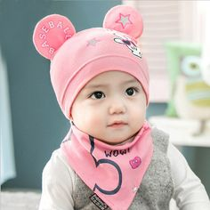 066b67e95fc 2pcs lot Baby Hat Scarf Set Boys Girls · Baby Beanie HatsBaby ScarfNewborn  Baby CapsBaby ...