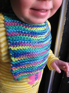 Bib knitted cotton for a drooly baby (set of 2). $10.00, via Etsy.