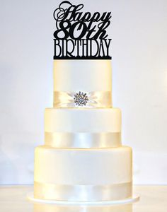 Hey, I found this really awesome Etsy listing at https://www.etsy.com/listing/233776605/happy-80th-birthday-cake-topper