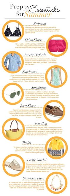 Preppy Essentials for Summer #ShopGenius #ShopGeniusApp .com
