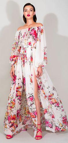 Zuhair Murad floral gown