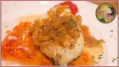 Suprema de bacalao braseada con mermelada de tomate  y cebolla caramelizada...  Una de nuestras especialidades Rica rica... ;-)