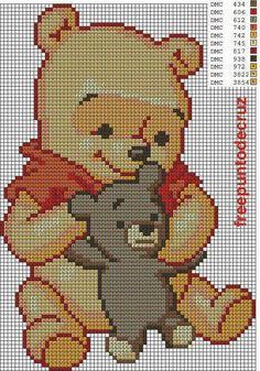 Winnie the Pooh cross stitch.