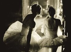 Two Ballet Dancers - Learn about Black and White Photography >> (Black and White Photography) --> http://imagesandcameras.com/black-and-white-photography