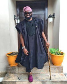 Throwback Thursday - Noble Igwe's Agbada Style 8