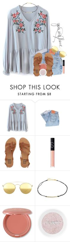 """::::::::::::::::::"" by southernstruttin ❤ liked on Polyvore featuring Levi's, Billabong, NARS Cosmetics, Mykita, Jules Smith and Stila"