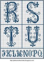 Free Easy Cross, Pattern Maker, PCStitch Charts + Free Historic Old Pattern Books: Sajou No 202 Easy Cross, Simple Cross Stitch, Cross Stitching, Cross Stitch Embroidery, Embroidery Alphabet, Cross Stitch Letters, Monogram Alphabet, Pattern Books, Stitch Patterns