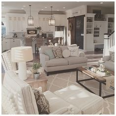 Janna Allbritton (Yellow Prairie Interior Design) - her kitchen and family room.