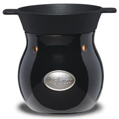 Noir Velata Fondue Warmer  This sophisticated warmer is glazed in deep, glossy black. Price $40.00, Shop on my website at https://deannawallace.velata.us/Velata/Home  If you are interested in receiving a catalog, ordering, hosting a party, or joining my team please contact me!!!
