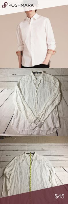 Burberry Brit XL white made in Thailand Pre-owned Good condition Burberry Shirts Casual Button Down Shirts