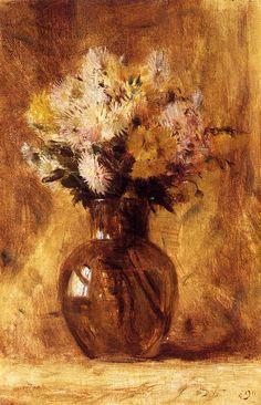 The Athenaeum - Chrysanthemums (Dwight W. Tryon - )