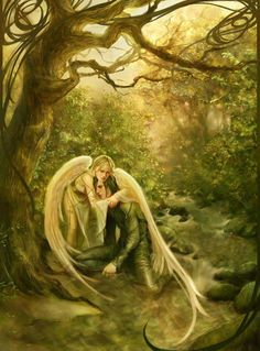 When you're sad and vulnerable  and so in need of healing  there's someone watching over you  who knows just how you're feeling  And with her wings, soft as a cloud  she'll tend you with great care  for any time you need a friend  your Angels always there~ unknown :)♥