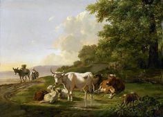 Os, Pieter Gerardus van - Landschap with cows, 1806