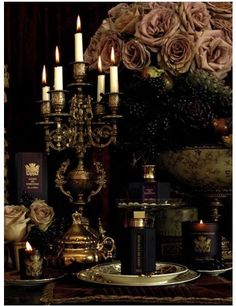 Great moody presentation. Gothic and sexy... as well as collectable tea cups and facy sets to go along...