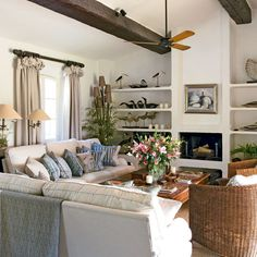 Colonial-style living room