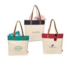 Fashionable cotton tote with that classic look!