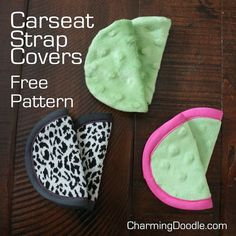 Free Pattern: Baby Car Seat Strap Covers | by Charming Doodle