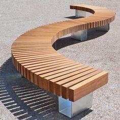 Clifton Bench - Woodscape Hardwood Bespoke Street Furniture