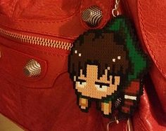 attack on titan bead sprite | Attack on Titan Levi, Shingeki no K yojin Keychain, Anime Bag ...