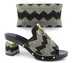 108.30$  Buy here - http://alipea.worldwells.pw/go.php?t=32591689626 - Item No.DF16-101-BLACK NEW Italian Woman Matching Shoe And Bag Set,Free Shipping Italian Wedding Shoes And Matching Bags Sets