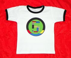 LEGO inspired birthday Shirt with Building Blocks as Age / ETSY