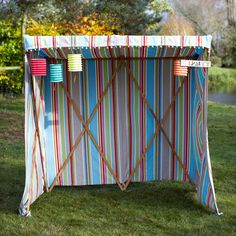 We love the idea of using this Striped Sun Canopy ($388