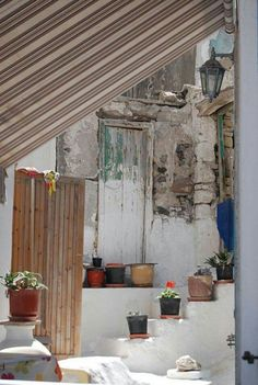 Greek home - Dimitris Anastasias Greek House, In Ancient Times, Athens, Tuscany, Spain, Windows, Interiors, Doors, Island