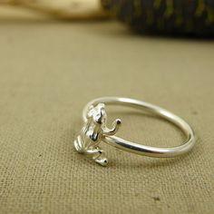#Manduka means frog. Sterling silver frog ring. #yogagift #yogalover