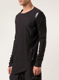 DEVOA - Tape Seam Long Sleeve Shirt - OCS-KRV3 CHARCOAL - H. Lorenzo
