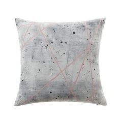 Home Republic Concrete Geo Pink Cushion, grey cushion, homewares