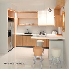 projekt małej otwartej kuchni 2 wariant kolorystyczny