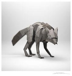 Origami Paper Fox