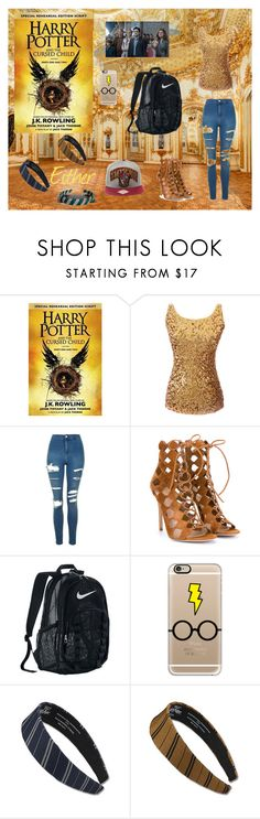 """""""The Cursed Child Outfit"""" by fash-bash-11 ❤ liked on Polyvore featuring Topshop, Gianvito Rossi, NIKE and Casetify"""