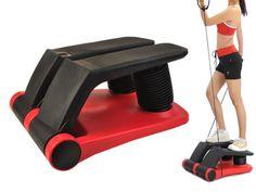 Home-Gym-Air-Stepper-Climber-Exercise-Fitness-Machine-w-Arm-Resistant-Cords-DVD