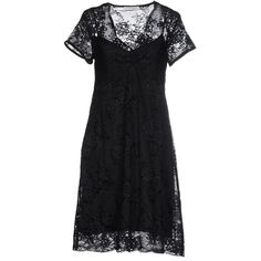 Twin-set Lingerie Nightgown ($71) ❤ liked on Polyvore featuring intimates, sleepwear, nightgowns, black, lace nightie, lingerie sleepwear, lace sleepwear, short sleeve nightgown and lacy lingerie