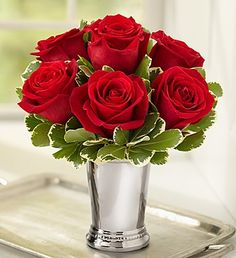 Julep Cup Rose Arrangement made to order and ship from 1800flowers.com!