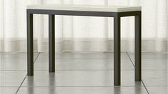 Parsons Console Table with Travertine Top | Crate and Barrel