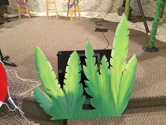 Shipwrecked VBS painted grass