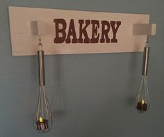 Bakery Sign, Recycled Bakery Sign, Baker's Sign, Wood Sign, Recycled Materials, Kitchen Sign, Kitchen Decor, Mothers Day, Fathers Day by AmericanGreenCrafts on Etsy