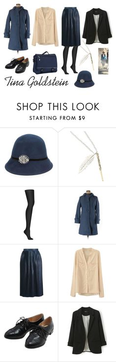 """""""Tina Goldstein"""" by jhmb on Polyvore featuring August Hat, Warner Bros., DKNY, Talbots, Topshop, M&Co and CalPak"""