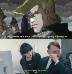 """22 Dank Anime Memes & Screenshots To Send To Senpai - Funny memes that """"GET IT"""" and want you to too. Get the latest funniest memes and keep up what is going on in the meme-o-sphere. Jojo Memes, Dankest Memes, Funny Memes, Hilarious, Funniest Memes, Jokes, Jojo's Bizarre Adventure, Dank Anime Memes, Manga Anime"""